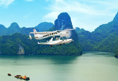 Enjoy Specular View Of Halong Bay From Sea Plane